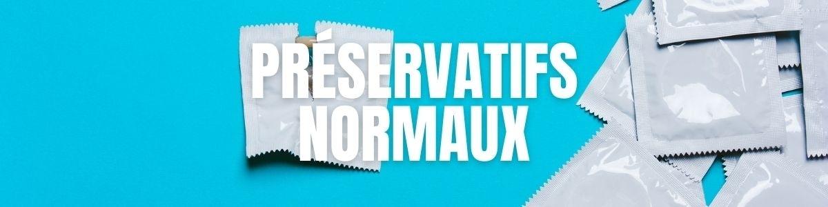 Préservatifs Basiques - Standards - Normaux  | Pas cher