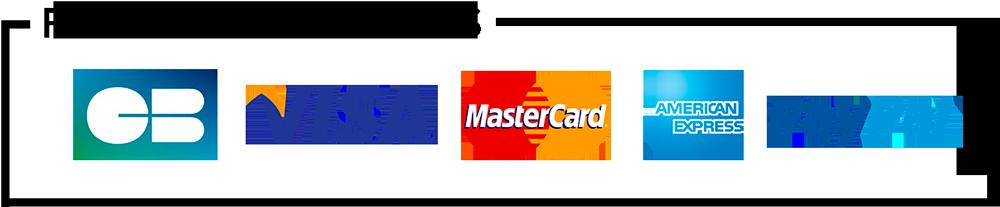 Paypal, mastercard, visa